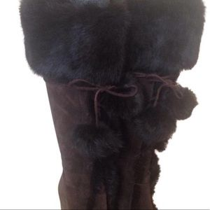 Coach Shoes - HUGE ONE DAY SALE COACH RABBIT FUR LINED BOOTS